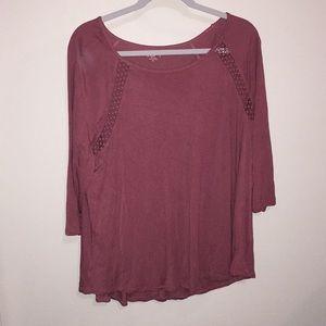 Dark pink blouse